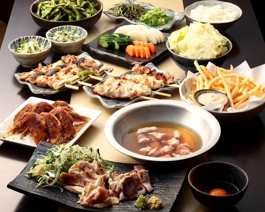 とりいちず酒場 六本木店の鶏料理を満喫できる〈食べ放題×飲み放題コース〉