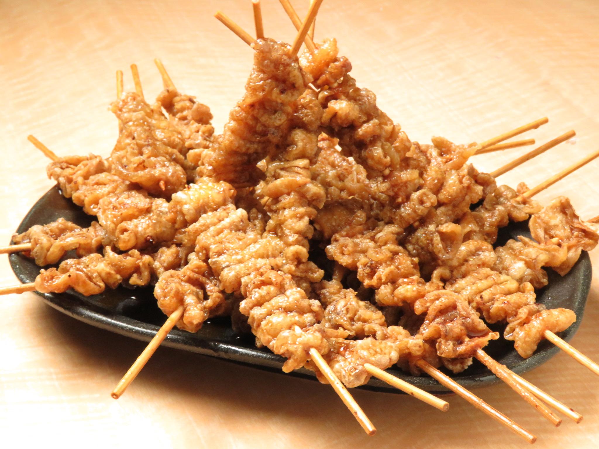 六本木の鶏料理専門店[とりいちず]の絶品とり皮